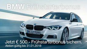 BMW Frühstarterbonus im Zeitraum der Vienna Auto Show 2018